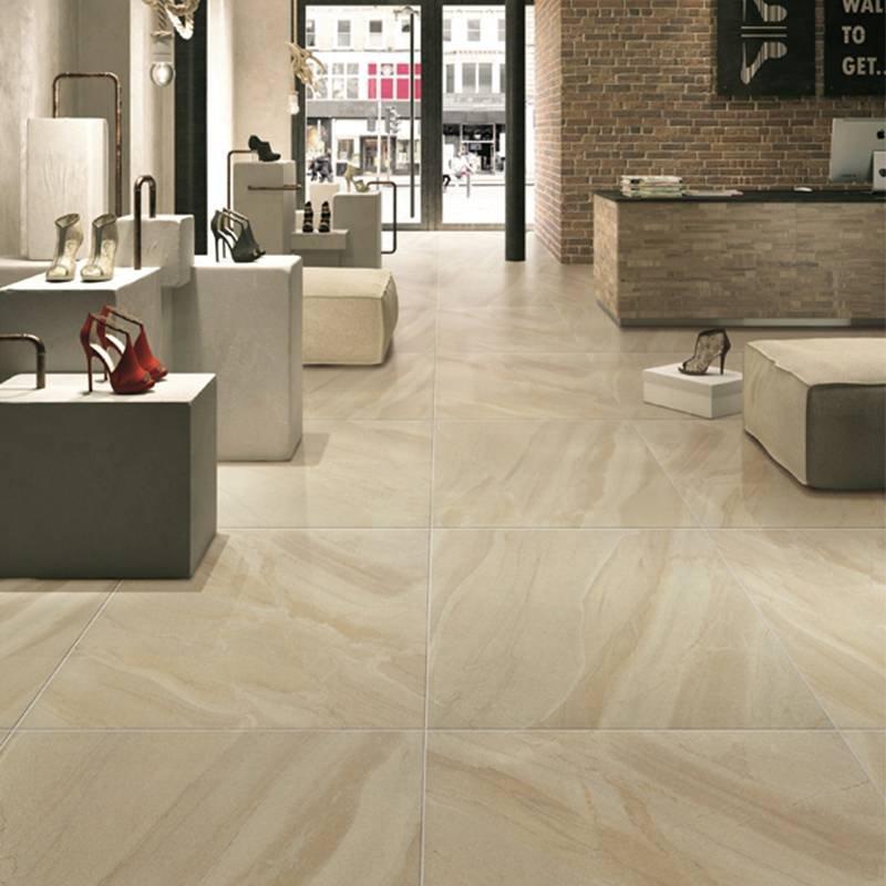 Non slip bathroom yellow porcelain matte finish rustic tile EQ7603