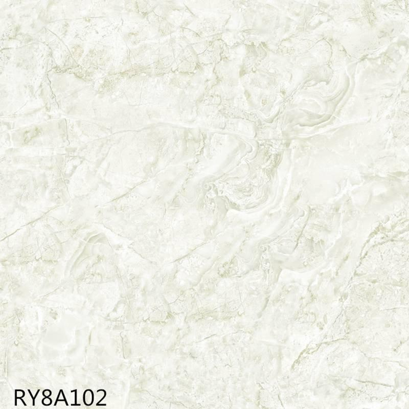 Modern design soft glazed porcelain tile silver stone RY8A102
