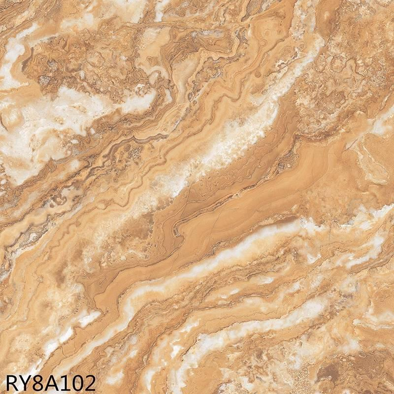 Soft polished glazed porcelain marble floor tiles flowstone RY8A112
