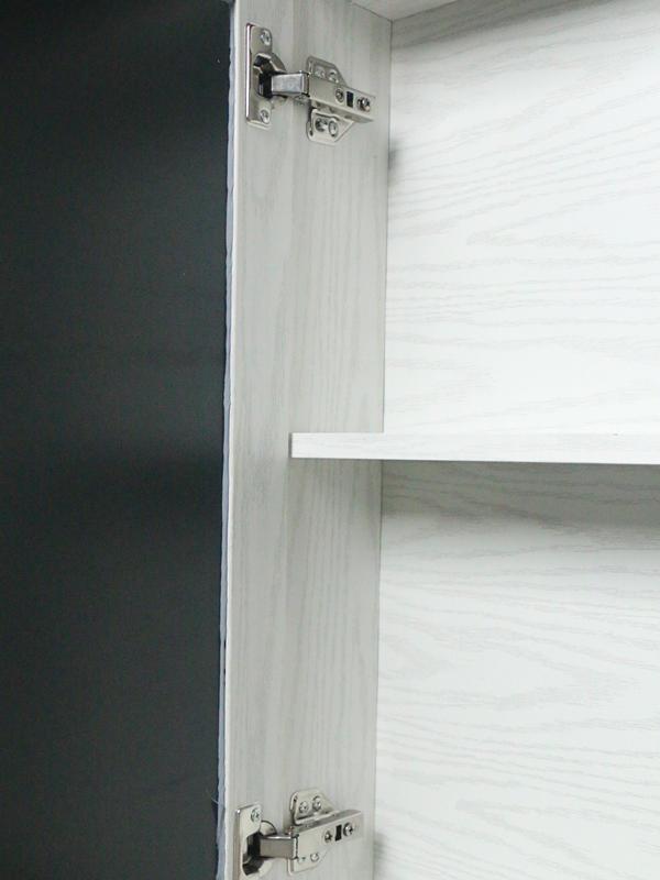 white wood grain bathroom vanity